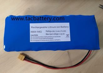 China INR18650 Li-ion Battery Pack 36V 10AH with high power dishcarge current For EV supplier
