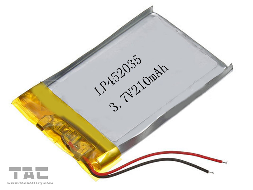3 7 volt 210 mah li ion polymer battery gsp452035 li. Black Bedroom Furniture Sets. Home Design Ideas