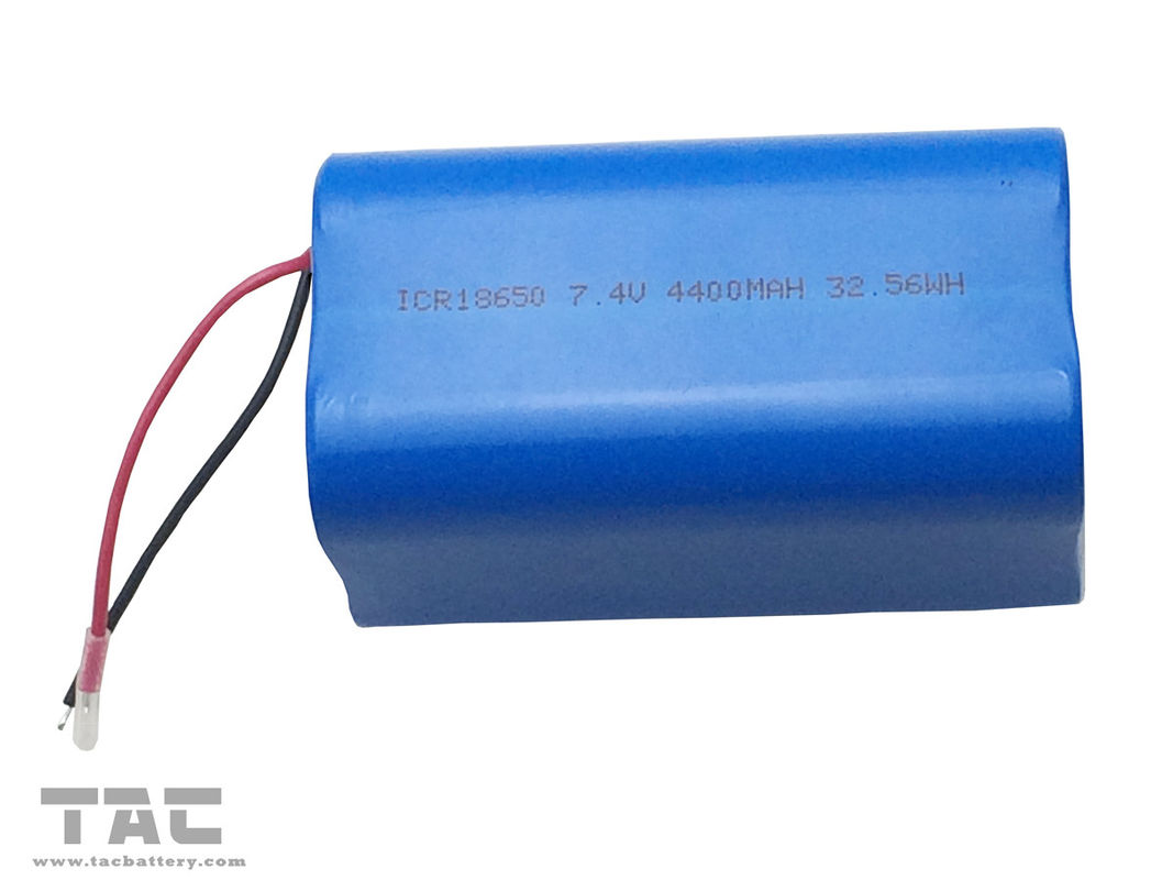 18650 Lithium Ion Cylindrical Battery Pack 7.4V Wtih ROHS REACH