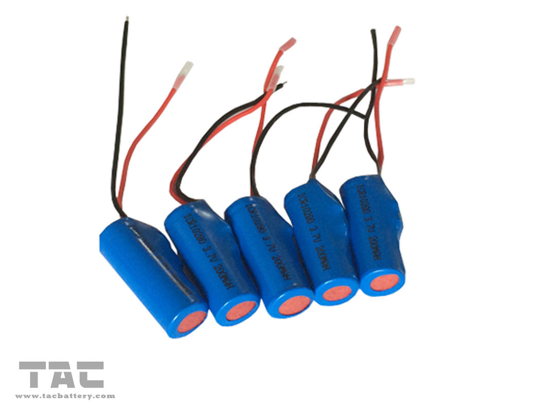 Rechargeable 3.7v 200mAh Lithium Ion Cylindrical Battery ICR10280