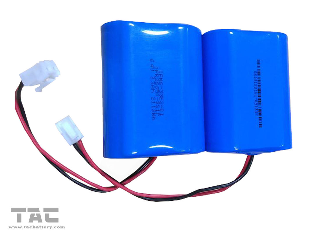Blue 3.2V LiFePO4 Battery / 6000mah battery pack for solar powered remote weather stations