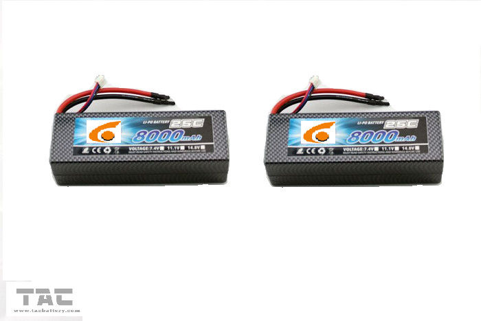 UAV RC Helicopter lithium polymer battery pack 11.1v 25C 8000mah 6484165