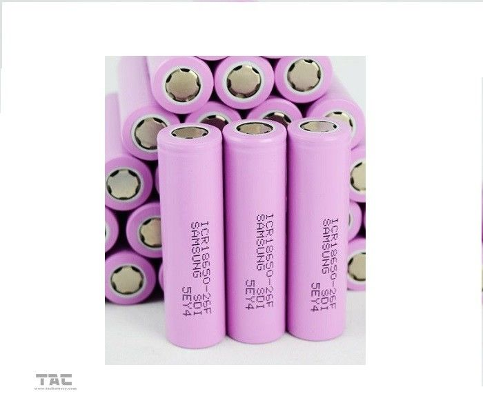ICR18650 26F 3.7V Lithium Ion Cylindrical Battery For Power Tool , Samsung 18650 Battery