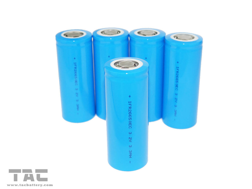 Rechargeable 3.2V LiFePO4 Battery 26650 3000mAh Energy Type for Backup Systems