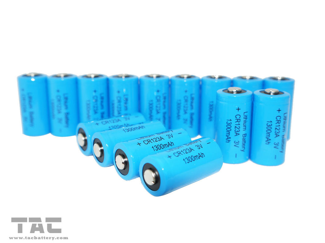 CR123A Primary Lithium LiMnO2 Battery 1500 mAh with High Energy Density