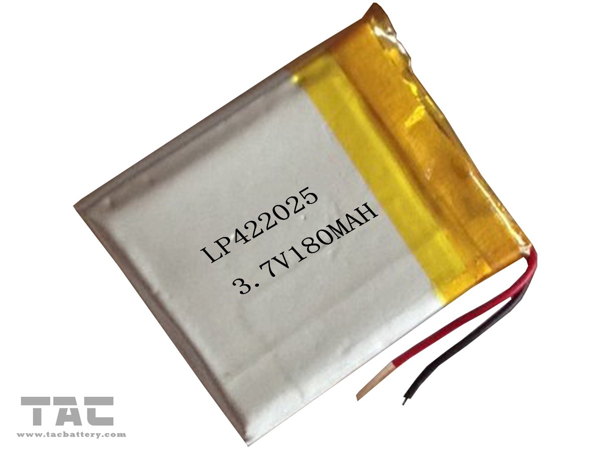 Environmental Polymer Lithium Ion Batteries 3.7V 180MAH GSP422025