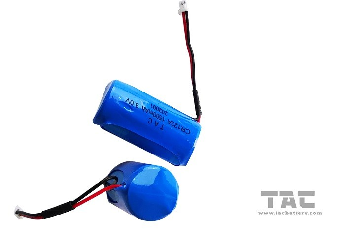High Energy Density 3.0V CR123A 1600mah Li-Mn Battery , Gps Tracking