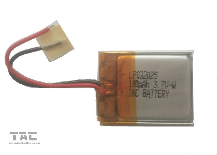 Polymer Lithium battery LP032025 100MAH 3.7V for Wearable Device