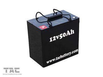 Black 12V 50AH AGM Dry Lead Acid Car Battery For Electric Bike ROHS / UL / FCC