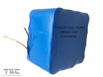 China IFM12.8V 12Ah LiFePo4 Battery Pack 26650 4S4P For Solar Street Light factory