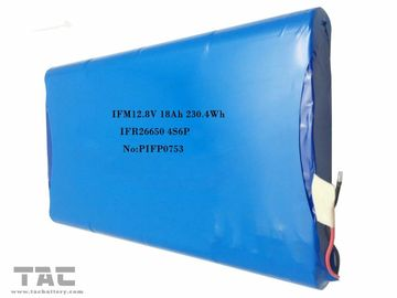 12 Volt Lithium Battery , 12.8V 18Ah IFR26650 4S6P Battery Pack For Solar System