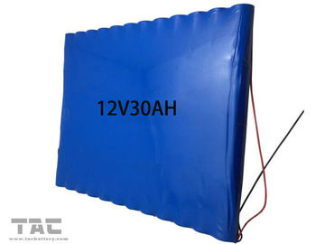 12V 30AH Lithium Ion Cylindrical Battery / lithium iron phosphate battery 2000 Times Circle
