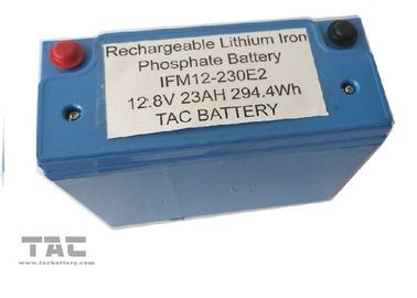 China Blue 12V LiFePO4 Battery Pack 26650 23AH With Housing UL2054 For Sloar Lighting factory