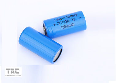 China High energy density 3.0V CR123A 1300mAh Li/MnO2 Primary Lithium Battery / Li-Mn Battery factory