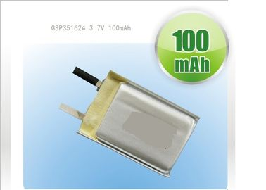 China High Capacity LP052030 3.7V 260mAh Polymer Lithium Ion Batteries for Communicator factory