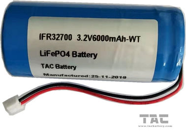 LiFePO4 Battery Pack IFR32700 3.2V  6AH 1S1P For Solar  Fence Back Up