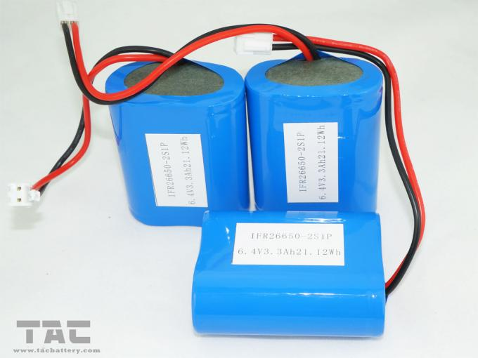 High Capacity 3.3Ah 6V LiFePO4 Batteries For with PCM Solar Product