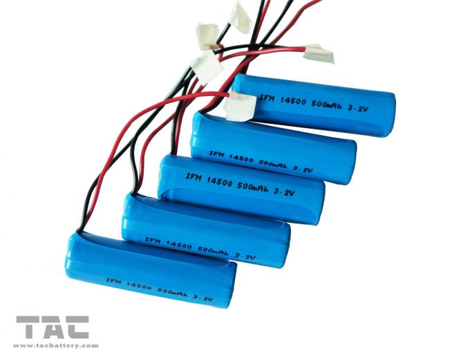 14505 AA 3.2V LiFePO4 Battery Pack With Wire For Road Studs