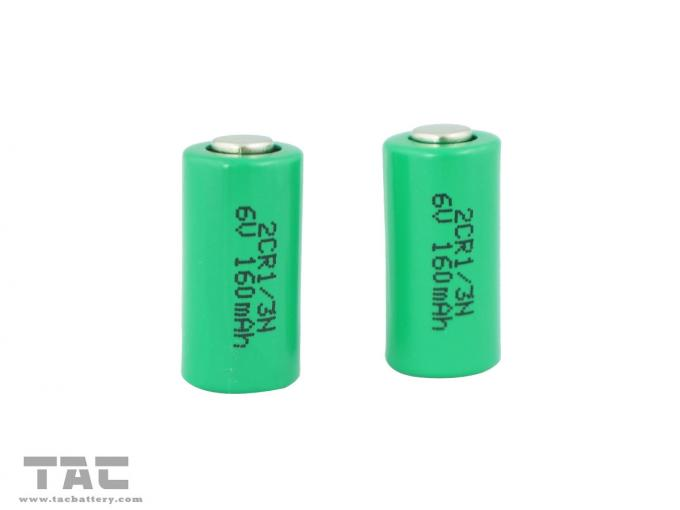 6v 2cr 1 3n 160mah Lithium Cylindrical Li Mn Battery For