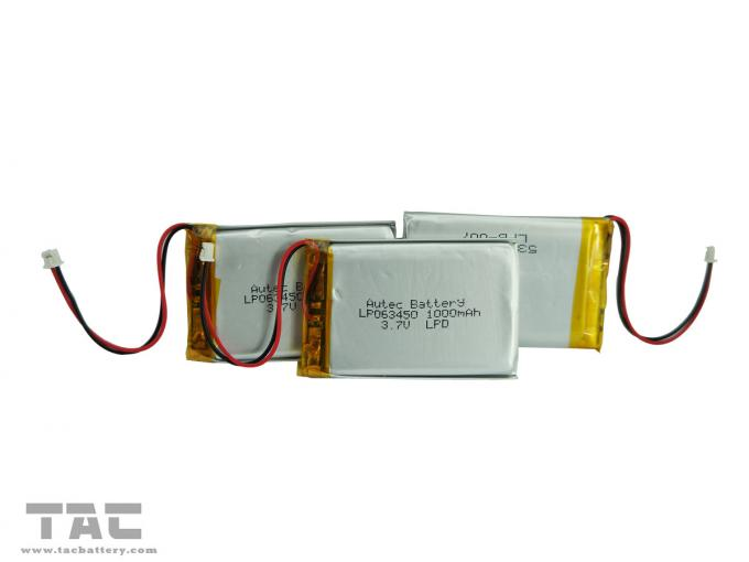 Rechargeable LP063465 3.7V 1300mAh Polymer Lithium Ion Battery with high capacity