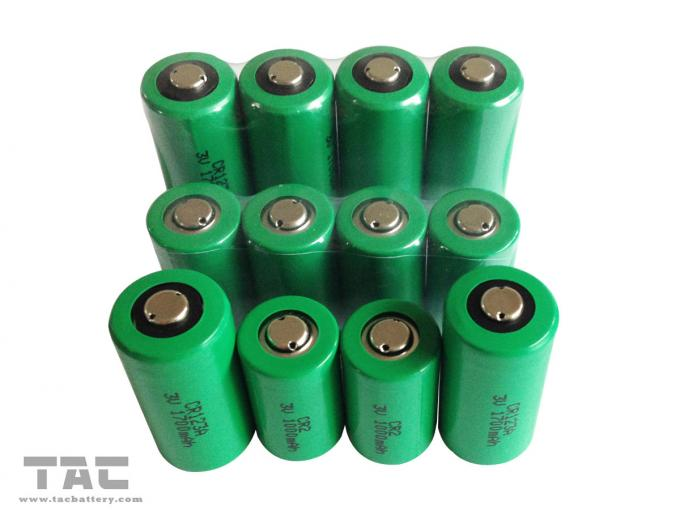 High Capacity 3.0V CR123A 1700mAh Li-Mn Battery