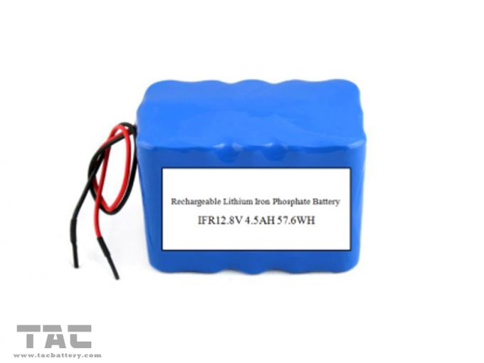 Portable Battery Pack 12.8V 4.5AH LiFePO4  High Power UPS 18650 4S3P