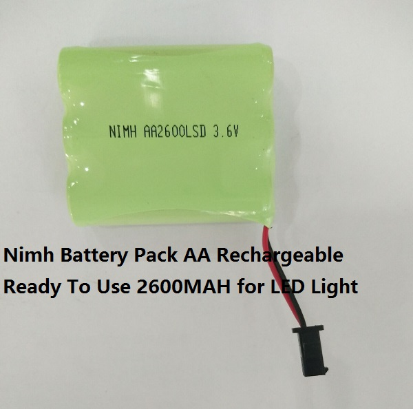 Nimh Battery Pack AA  Rechargeable  Ready To Use 2700MAH  for LED Light