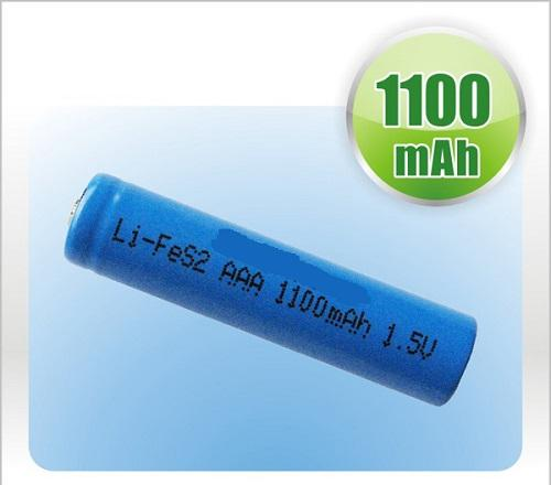 1100mAh Small Lithium Iron Battery 1.5V LiFeS2 for Teal time clock