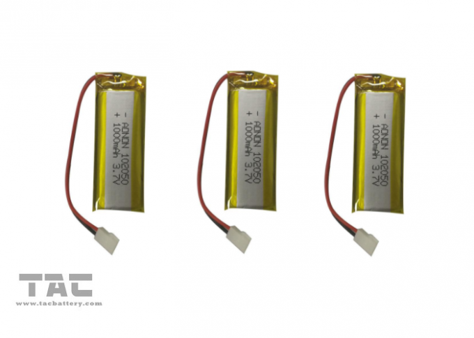 3.7V 300mAh Li - Polymer Rechargeable Battery 452530 PVC Packing For IOT