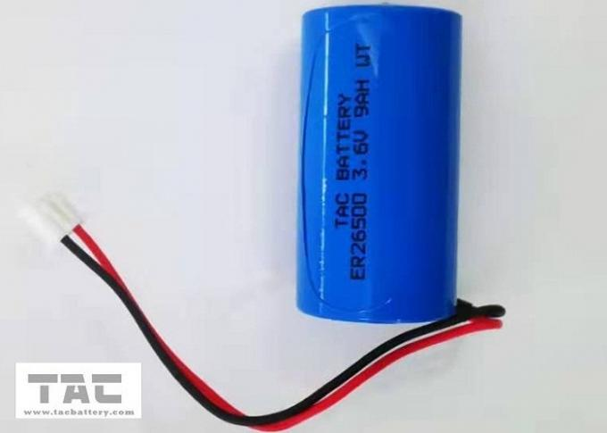 3.6v  Lisocl2 Battery ER26500 9AH With connector  for Water meter Ammeter